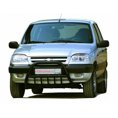 Защита передняя с доп. защитой двигателя низкая
