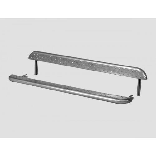 Защита порогов с металлической площадкой