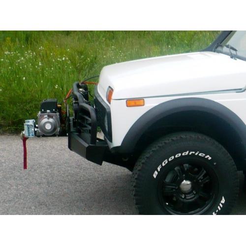 Силовой бампер передний с адаптером съёмной лебёдки