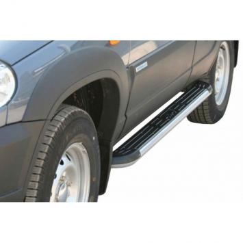 Защита порогов с пластиковой накладкой RS