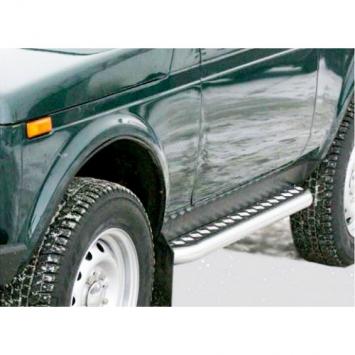 Защита порогов с алюминиевой площадкой