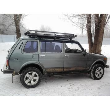 Багажник экспедиционный Трофи удлиненный с алюминиевой площадкой